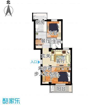 86平两室两厅2只扩次卧