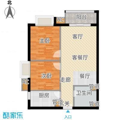 幸福家园86.53㎡11号楼032面积8653m户型