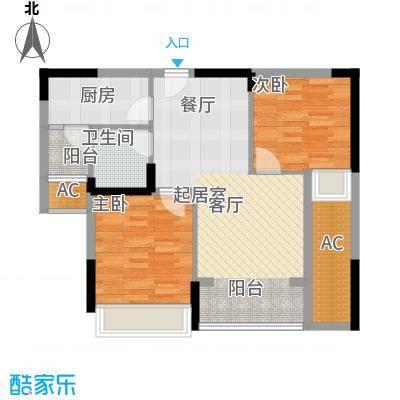 泽胜依山郦景76.69㎡一期2号楼标准层7/8/11号房户型