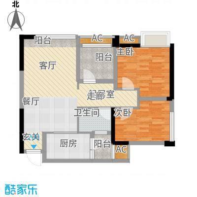 泽胜依山郦景77.79㎡一期2号楼标准层5/6/9/10号房户型
