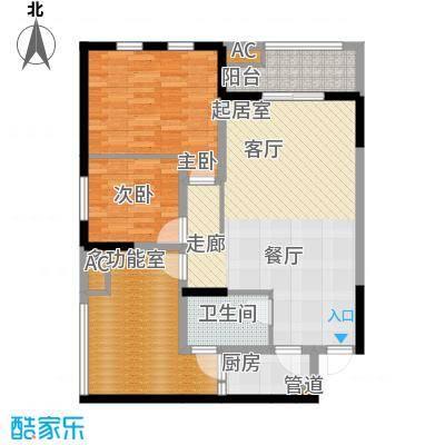 御锦江都108.55㎡一期A3栋标准层1号房户型