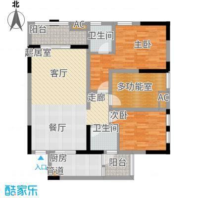 御锦江都121.42㎡一期A3栋标准层2号房户型