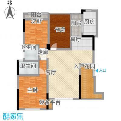 泽胜温泉城花园洋房7+1E户型
