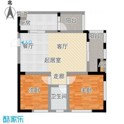 御锦江都90.67㎡一期A3栋标准层3号房户型