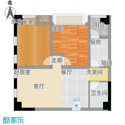 御锦江都87.56㎡一期A1栋标准层1/8号房户型
