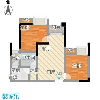 海怡天西城华府62.38㎡五期4、5号楼标准层6号房户型