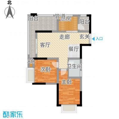 华峰晶蓝江岸93.60㎡A1户型