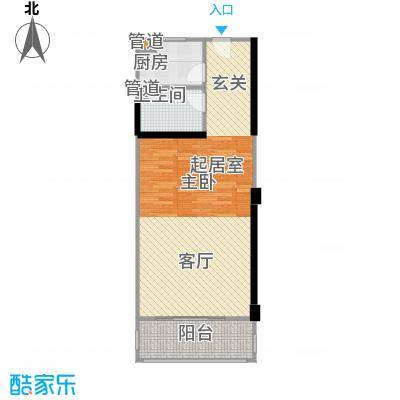 虹桥路400弄小区63.00㎡上海虹面积6300m户型