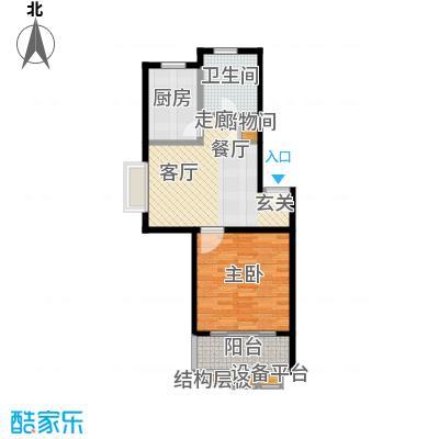 新梅淞南苑62.00㎡面积6200m户型