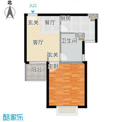 新梅淞南苑56.00㎡面积5600m户型