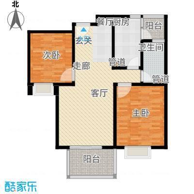爵仕悦恒大国际公寓90.00㎡A22面积9000m户型