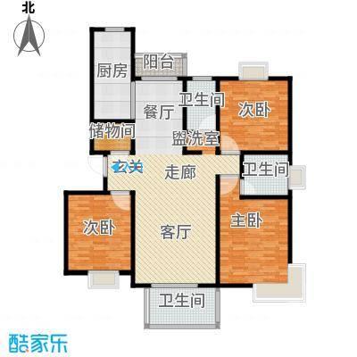爵仕悦恒大国际公寓128.00㎡B33面积12800m户型