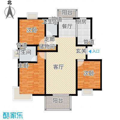 爵仕悦恒大国际公寓123.00㎡B13面积12300m户型