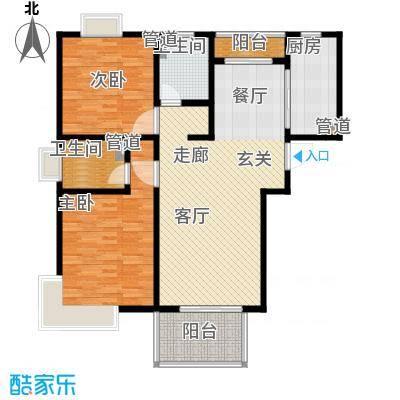 爵仕悦恒大国际公寓106.00㎡A12面积10600m户型