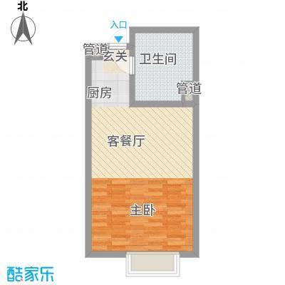 合景峰汇公寓55.00㎡面积5500m户型