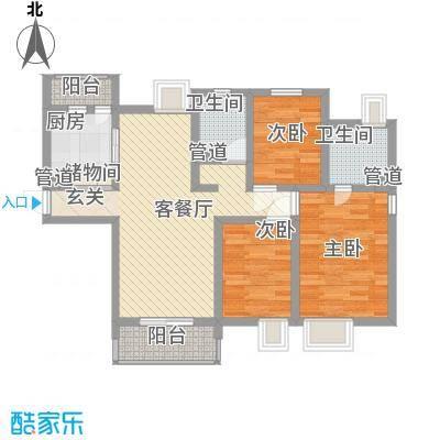 合景峰汇公寓101.00㎡面积10100m户型