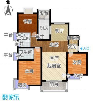 仁恒运杰河滨花园135.86㎡面积13586m户型