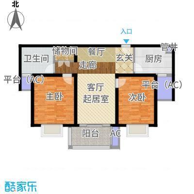 仁恒运杰河滨花园91.49㎡Fa-2户面积9149m户型