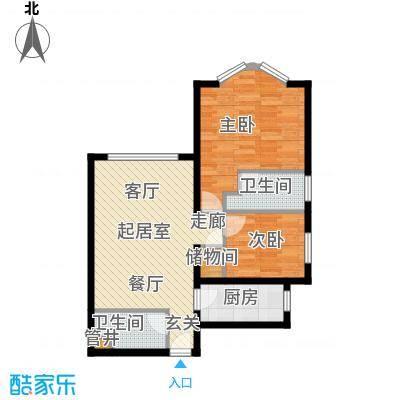 浦江茗园68.00㎡面积6800m户型