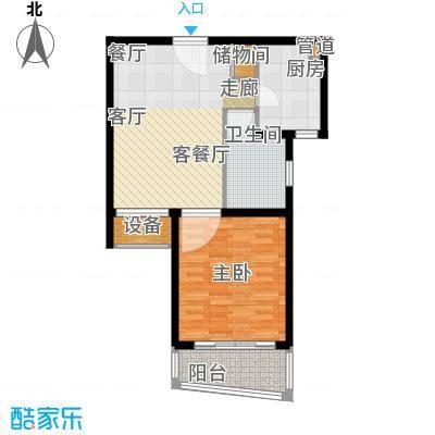 大华锦绣华城第14街区65.00㎡户面积6500m户型