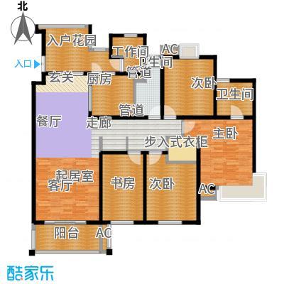 慧芝湖花园二期155.00㎡嘉宁荟4面积15500m户型