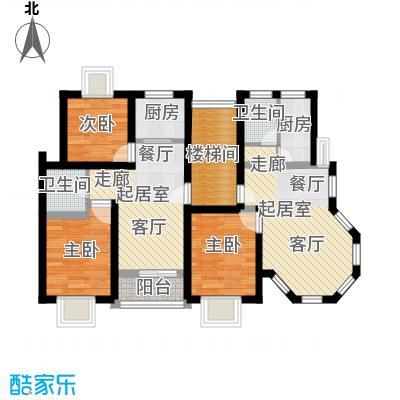 保利金色唐城73.00㎡房型DE面积7300m户型