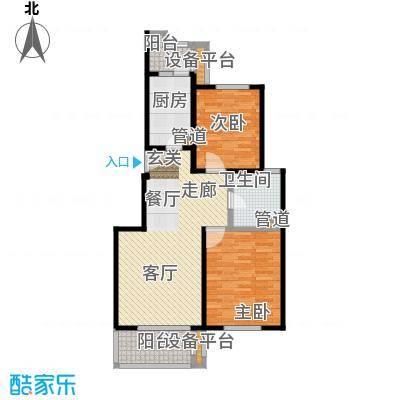 绿地崴廉公寓二期88.00㎡B1面积8800m户型
