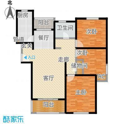 绿地崴廉公寓二期114.00㎡D面积11400m户型