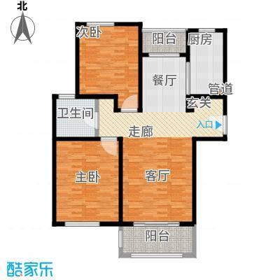 绿地崴廉公寓二期97.00㎡C面积9700m户型