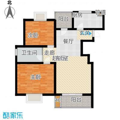 文翔名苑91.00㎡面积9100m户型