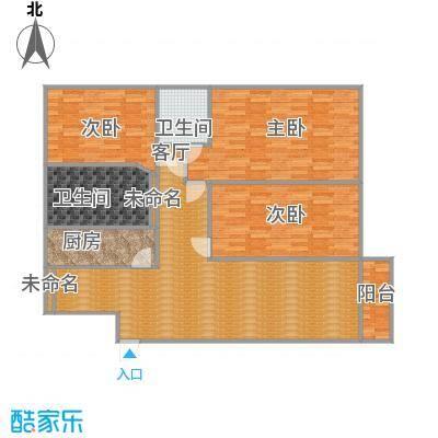 鹏华香域花园135方05户型三室两厅