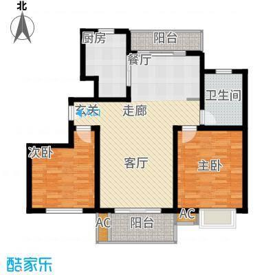 上海源花城96.79㎡小高层A2面积9679m户型