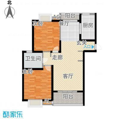 上海源花城102.71㎡D2面积10271m户型