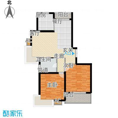 上海源花城105.28㎡E2面积10528m户型