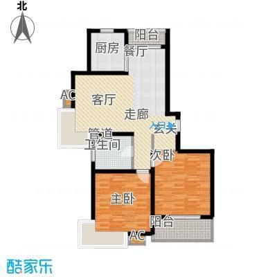上海源花城93.20㎡小高层B1面积9320m户型