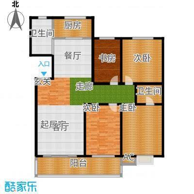 大学城松云水苑167.00㎡4面积16700m户型