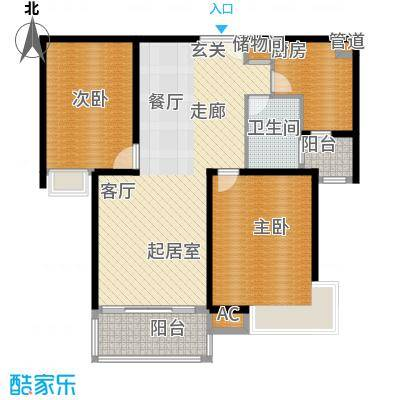 舒诗康庭92.50㎡二期面积9250m户型