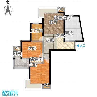 舒诗康庭84.50㎡上海面积8450m户型