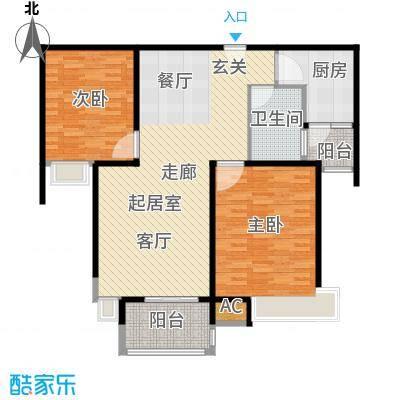 舒诗康庭107.50㎡上海面积10750m户型