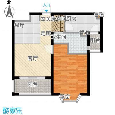 贝越高行馨苑57.00㎡面积5700m户型