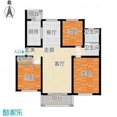 贝越高行馨苑116.68㎡上海面积11668m户型