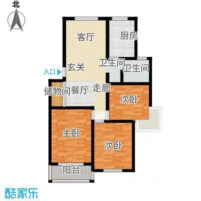 贝越高行馨苑99.64㎡上海面积9964m户型
