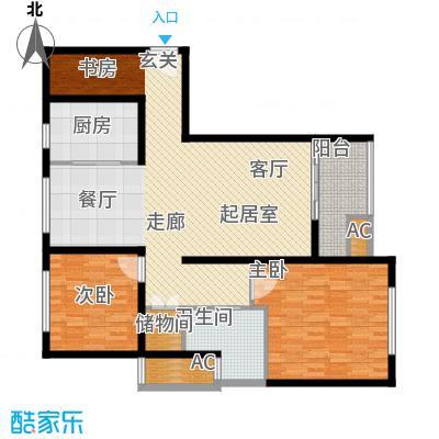 久阳文华府邸123.00㎡面积12300m户型