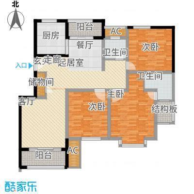 久阳文华府邸136.00㎡1面积13600m户型