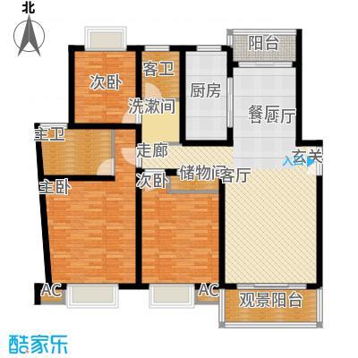 永达城市公寓136.02㎡B型面积13602m户型