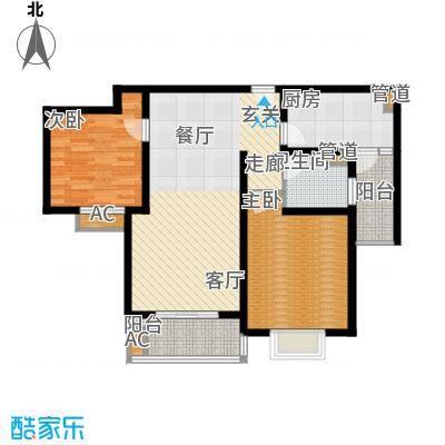 南洋博仕欣居94.09㎡上海康河原味()面积9409m户型