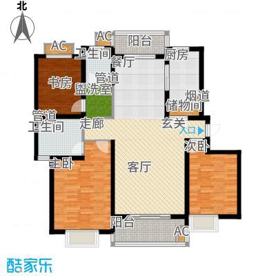 南洋博仕欣居129.83㎡上海康河原味()面积12983m户型