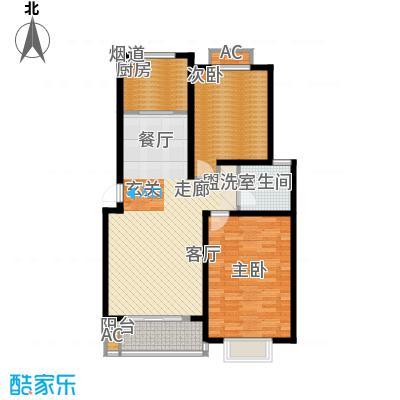 南洋博仕欣居97.23㎡上海康河原味()面积9723m户型