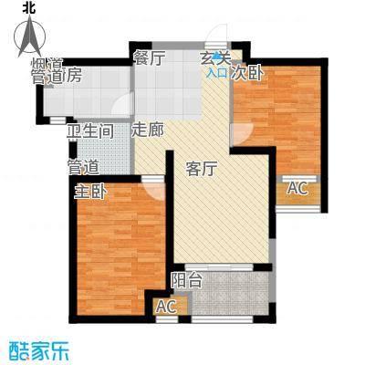 民东公寓75.00㎡面积7500m户型