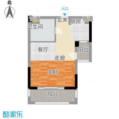 佳兆业珊瑚湾50.00㎡公寓B面积5000m户型